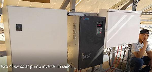 Solar pump inverter 45kw works in saudi ariabia