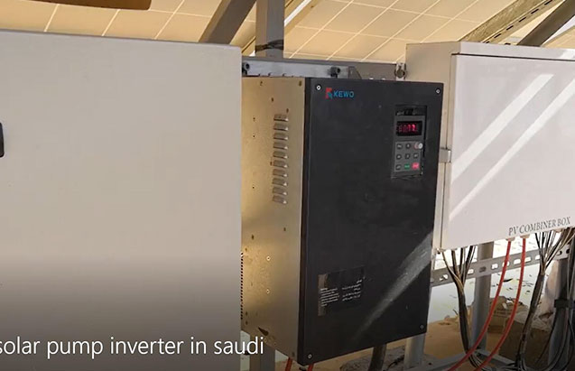 Solar pump inverter 45kw works in saudi ariabia